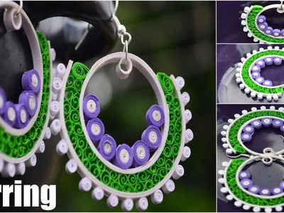 "Art & Craft: How to Make Celest's ""Ram Leela"" Multicolor Earrings -Quilling Made Easy"