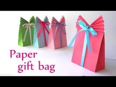 Art & Crafts: How to make Paper Bags For Gift -Paper GIFT BAG