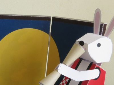 Automaton - papercraft - furry rice thumper - dutchpapergirl