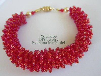 Beaded Fur Bracelet   DIY  Бисерный мех