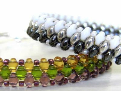 Beading DIY - Handmade Bracelet using Superduo Beads