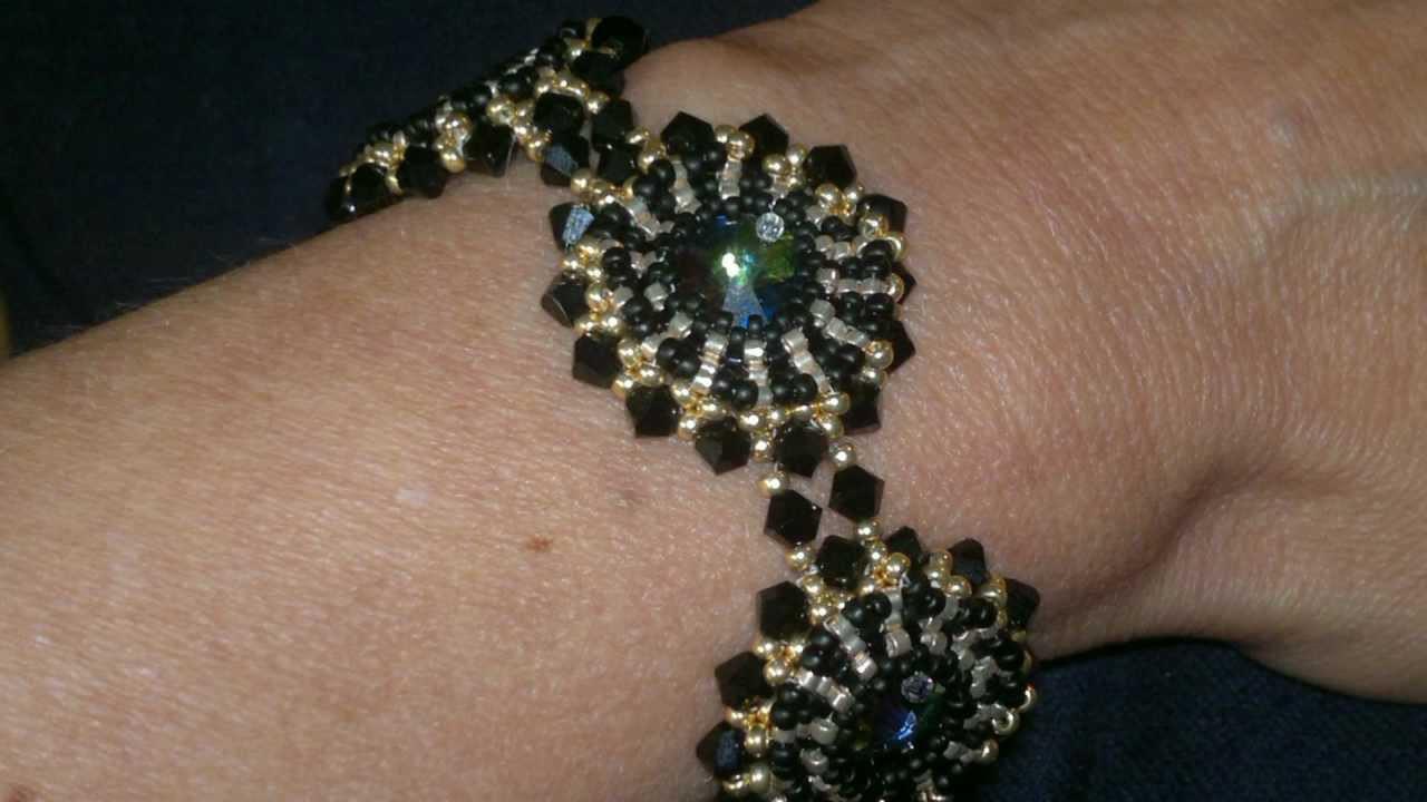 Beading4perfectionists : How to Bezel a Swarovski Rivoli with miyuki beads beading tutorial
