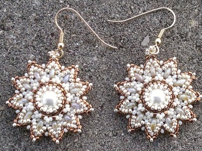 Beading4perfectionists : Pearl. superduo. seedbeads earrings beading tutorial