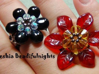Briolette Flower Beaded Ring & Pendant Tutorial