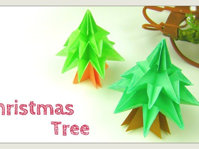 Christmas Crafts - DIY Origami Tree - Modular Christmas Tree - Easy Paper Crafts - Paper Tree