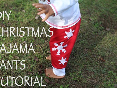 Christmas Pajama Pants for Kids- DIY Tutorial
