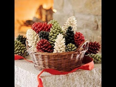 Christmas Pine Cone Decorations, Arts and Crafts, Creative Ideas 2013