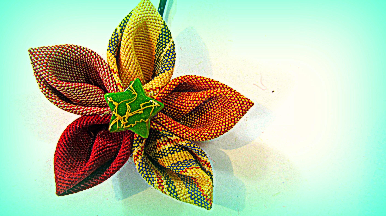 Como hacer flores de tela para el cabello con pétalos en punta. Hair flowers.