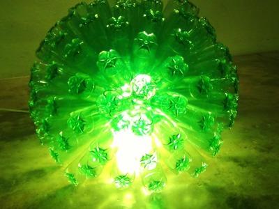 Cómo hacer una lámpara reciclando 125 botellas de plástico - How to recycle plastic bottles