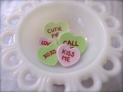 Conversation Heart Soap: Valentine's Day DIYs