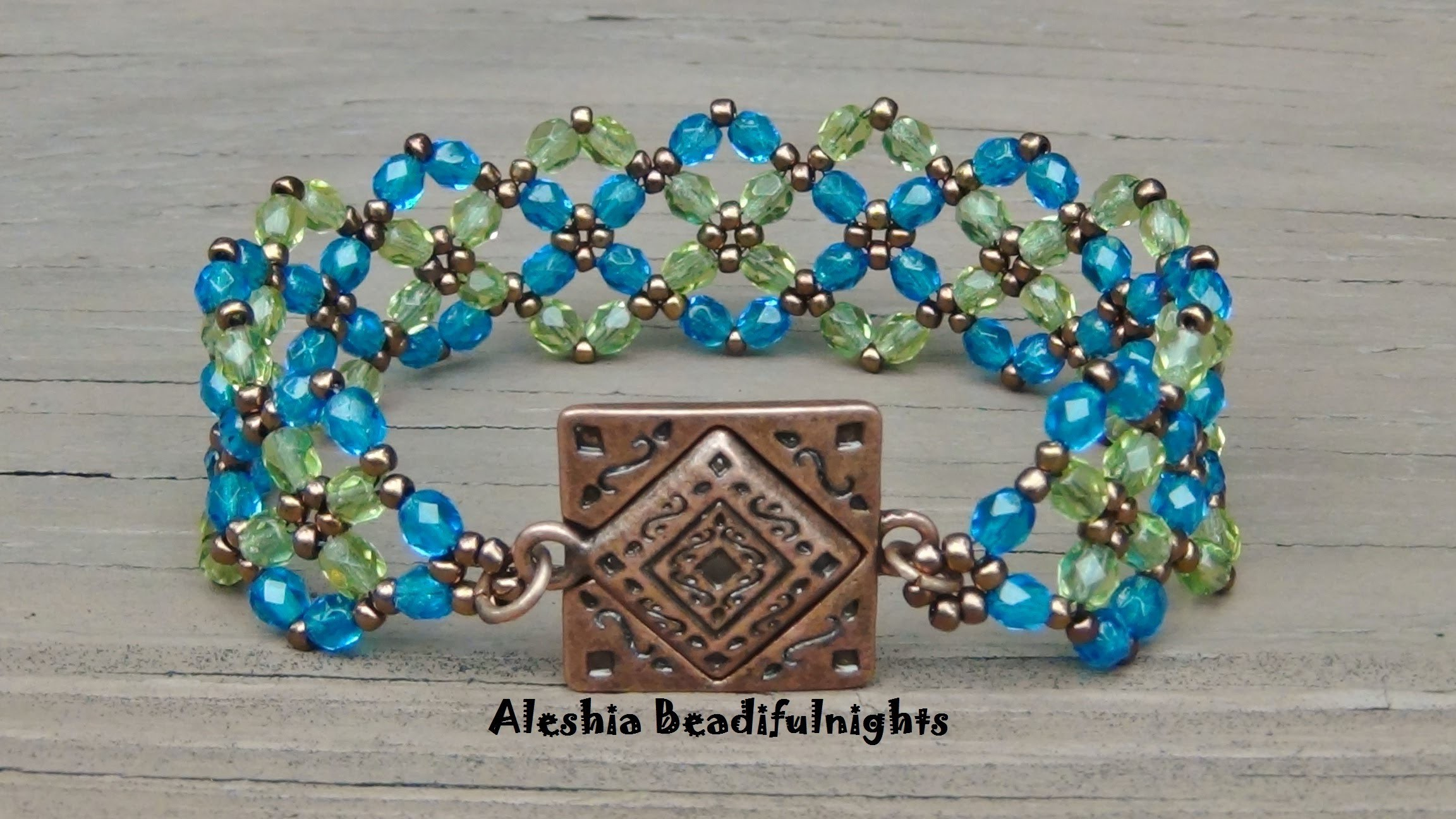 Crossing Paths Beaded Bracelet Tutorial