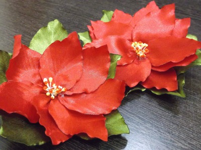 D.I.Y. Satin Ribbon Poinsettia Flower Tutorial