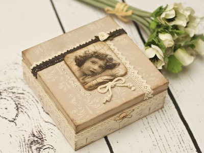 Decoupage vintage box - DIY tutorial