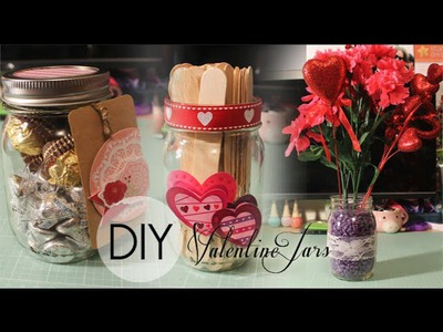 DIY 3 Valentines Day Mason Jars Gifts! (For boyfriend, girlfriend & loved ones!)