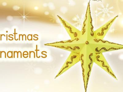 DIY Christmas crafts: CHRISTMAS ORNAMENTS Paper Star - Innova Crafts