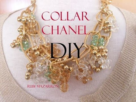 DIY. Collar Chanel. Necklace Chanel.