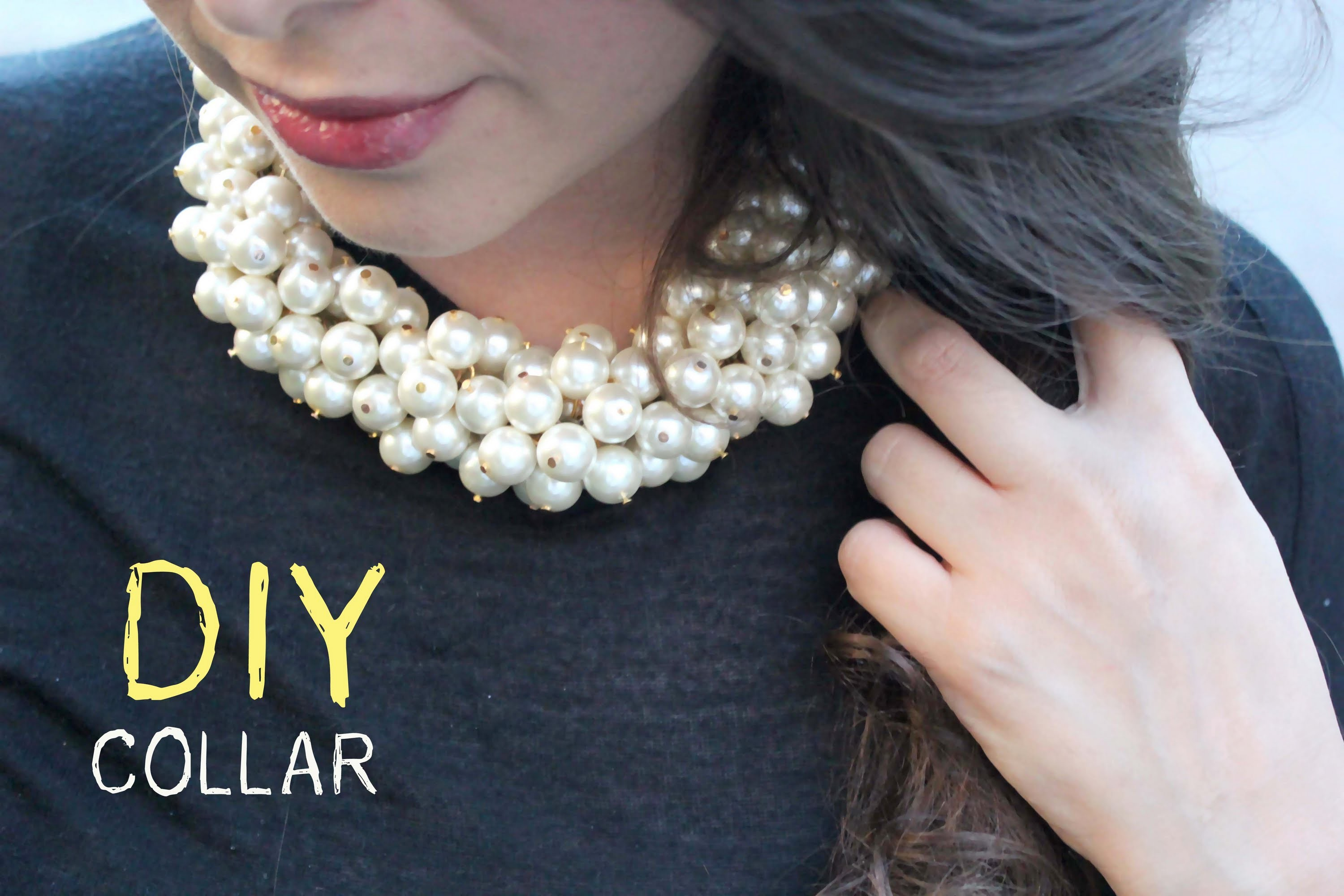 DIY Collar de perlas inspiración Chanel. DIY Pearl Necklace