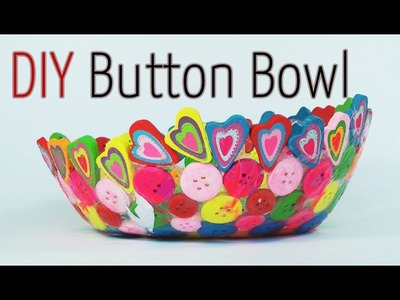 DIY craft : Button Bowl