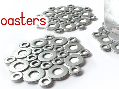 DIY crafts: COASTERS with washers VERY EASY - Innova Crafts