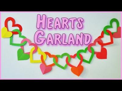 DIY crafts:Hearts Garland