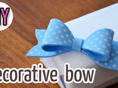 Diy Crafts :How to make a decorative foam bow