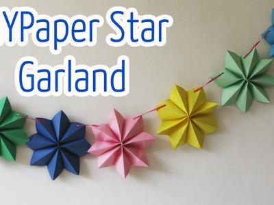 Diy crafts : Paper star garland
