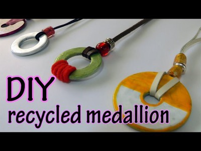 DIY crafts - recycled medallion