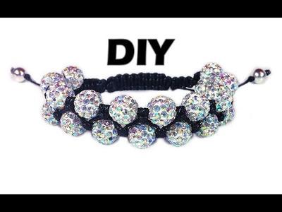 DIY: Double shamballa bracelet. Двойной браслет шамбала своими руками