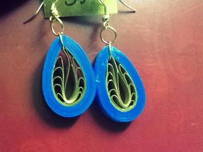 DIY Elegant Paper Earrings