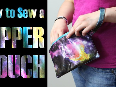 DiY Fashion Tutorial - How to Sew a Zipper Pouch Clutch Bag