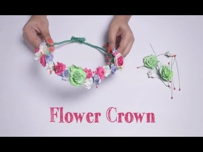 DIY : Flower Crown | Love Paper Craft