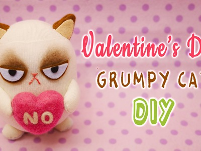 DIY Grumpy Cat on Valentine's Day - Sock Plushie Tutorial