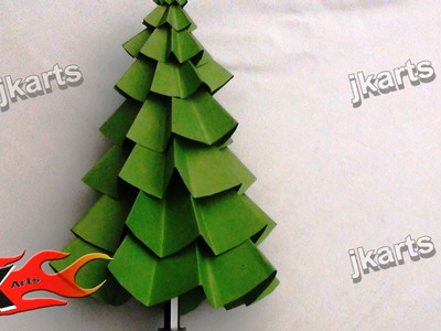 DIY How To Make Christmas Tree (Paper craft for Kids) - JK Arts 082