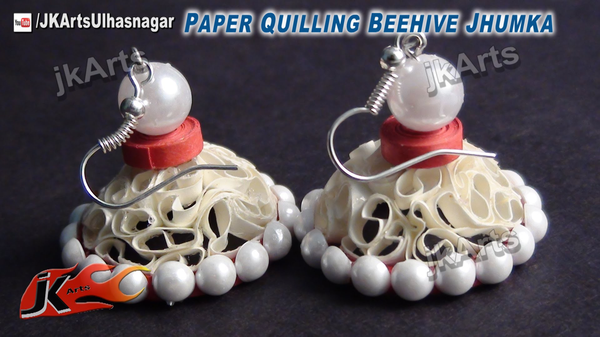 DIY How to make Paper Quilling Jhumka  Beehive - JK Arts 414