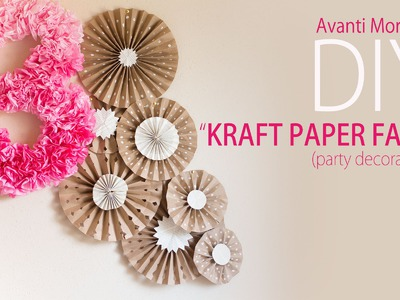 DIY Kraft Paper Fans Backdrop. Abanicos de Papel ( Party Decoration - Decoracion de Fiestas)