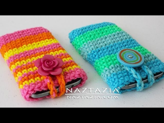 DIY Learn How to Crochet Easy Cell Phone Tablet Case Cover Holder iPhone iPod Samsung Smartphone