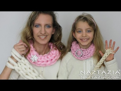 DIY Learn How To Easy Arm Knitting & Finger Knitting Knit Arms Fingers Inifinty Scarf Cowl Beginner