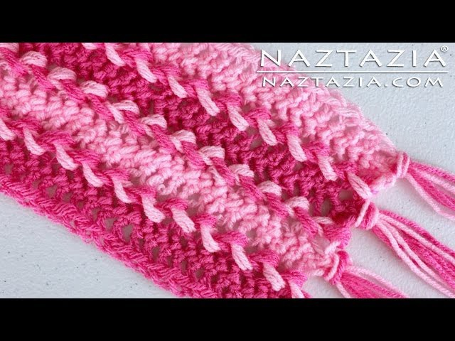 DIY Learn How To Make Easy Hairpin Lace Crochet Scarf - Loom Joining Fork Horquilla Hair Pin Weave