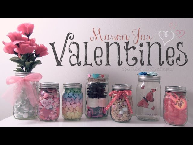 DIY Mason Jar Valentines. Easy Gifts & Room Decor How To
