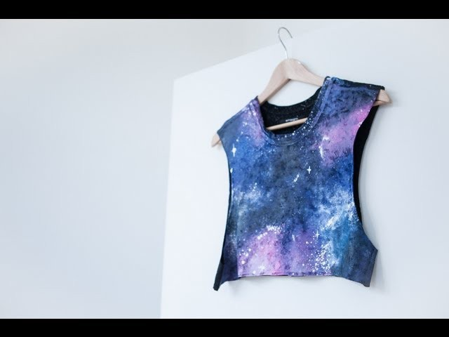 DIY nebula. galaxy print - fashion tutorial