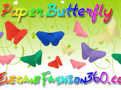 DIY Paper Craft: Paper Butterfly Origami Super Easy
