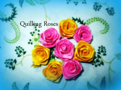 DIY paper Crafts :: How to Make Colorful Quilling Paper Rose flowers - Innovative Art