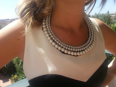 DIY pearl necklace-collana di perle fai da te