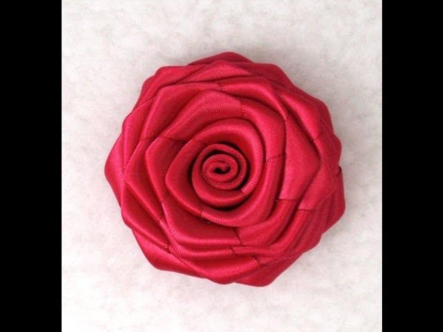 DIY Ribbon Rose, Tutorial, How to make