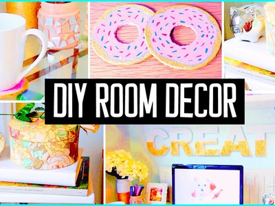 DIY ROOM DECOR! Desk decorations! Cheap & cute projects!