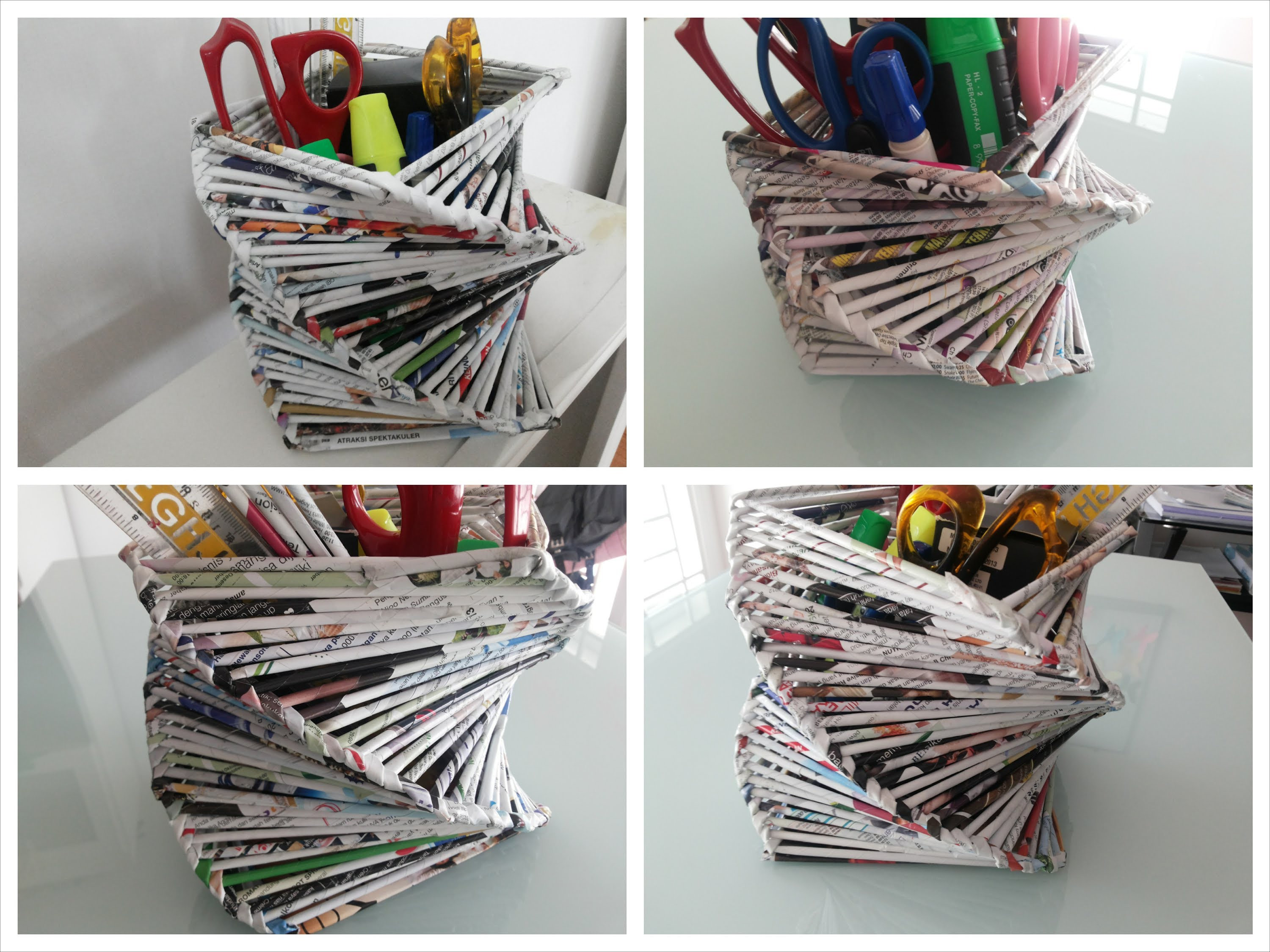 DIY Room or Home Decoration. Recycled Old Magazine