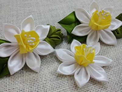 D.I.Y. Satin Kanzashi Daffodils Tutorial