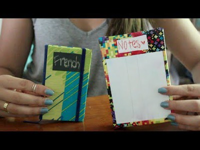 DIY: Scotch Tape Back to School Crafts