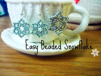 DIY Seed Bead Snowflake ¦ The Corner of Craft