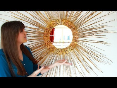 DIY Starburst Mirror | Home Decor #DIYwithJulia